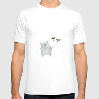 Bear and friends Mens Fitted Tee White SMALL