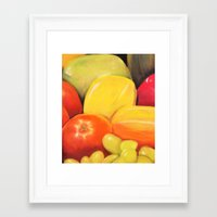 Fruit - Pastel Illustration Framed Art Print