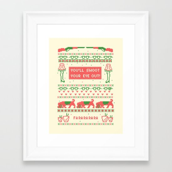 A Christmas Sweater Framed Art Print