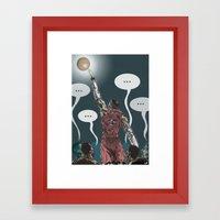 J. Smoove silences his critics.  Framed Art Print