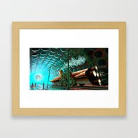 Steam Train Punk Framed Art Print