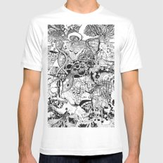 Destroyer White Mens Fitted Tee SMALL