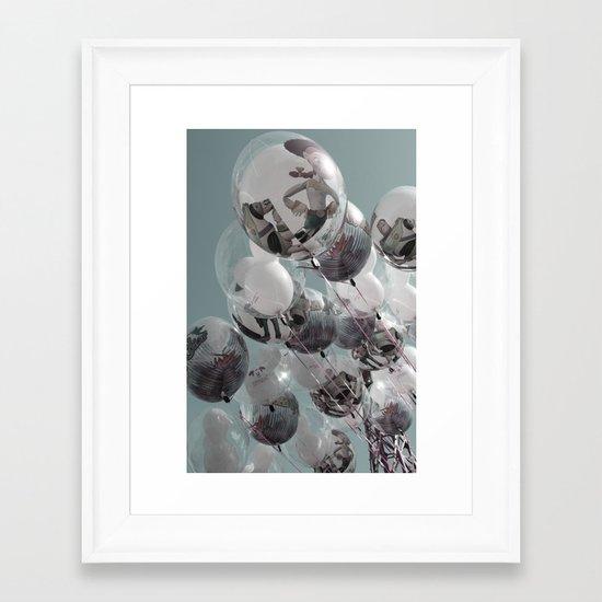 ballons Framed Art Print