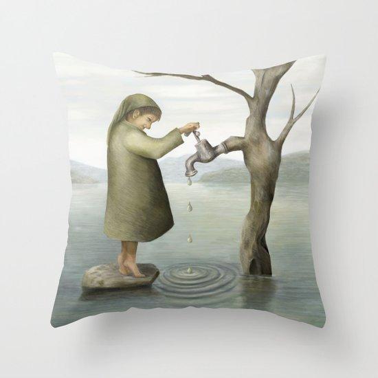 Drip, drip, drip Throw Pillow