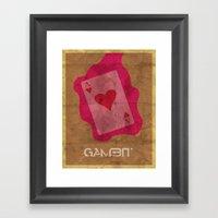 Minimalist Gambit Framed Art Print