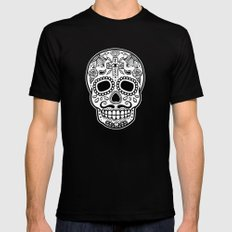 Mexican Skull - Black Edition SMALL Black Mens Fitted Tee