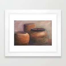 Clay Pots AC151201d-12 Framed Art Print
