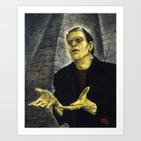 Frankenstein: LIGHT Art Print