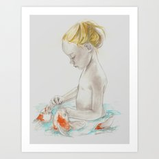 The Water Baby Art Print