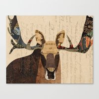 Moose Collage Canvas Print