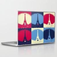 eiffel Laptop & iPad Skins featuring Eiffel Tower by Aloke Design