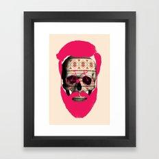 THE AUTUMN BIKER Framed Art Print