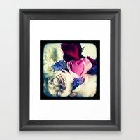 November Roses Framed Art Print