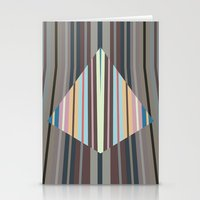 triangle meets strips Stationery Cards