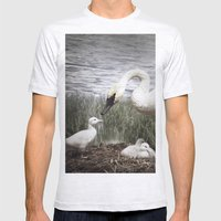 Tom Feiler Swan And Her … Mens Fitted Tee Ash Grey SMALL