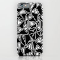 Abstract Outline Lines Black iPhone 6 Slim Case