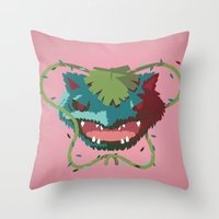 Rustling Venusaur Throw Pillow