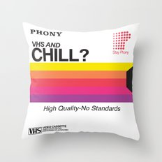 VHS And Chill Throw Pillow