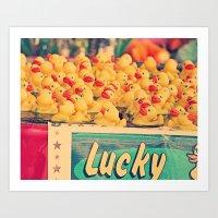 Lucky You Art Print