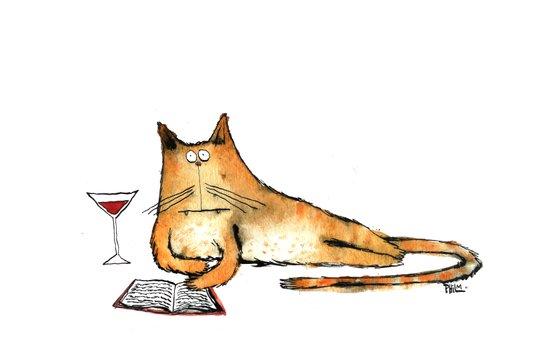 The Cat Relaxes Art Print