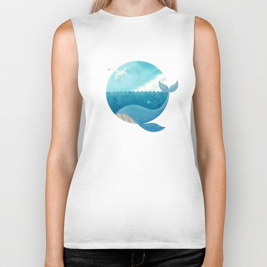 Whale & Seagull (US and THEM) Biker Tank