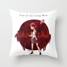 Land of the Rising Dead Throw Pillow