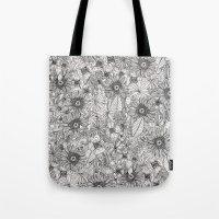 Pencil Flowers Tote Bag