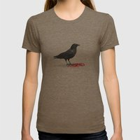 freedom  _ black crow Womens Fitted Tee Tri-Coffee SMALL