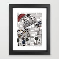 Going on Holiday Framed Art Print
