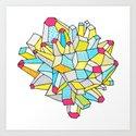 Gem and Mineral Dream Art Print