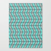 Blue Retro  Canvas Print