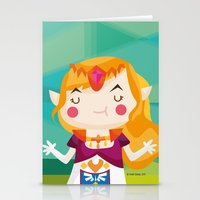 zelda Stationery Cards featuring Zelda by suupergirl