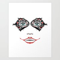 Day Of The Quinn Sugar Skull Art Print