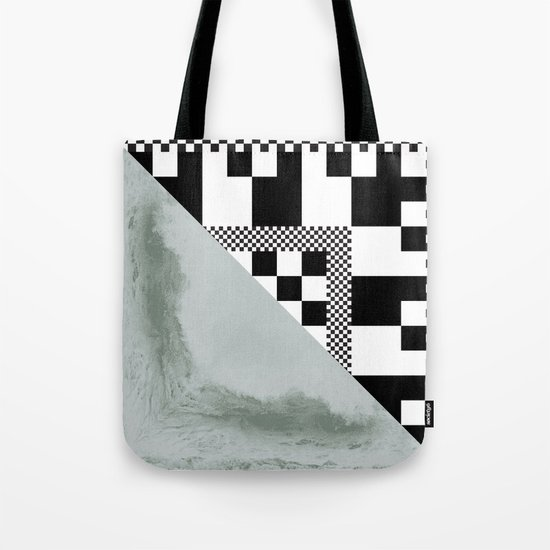 waves/grid #4 Tote Bag