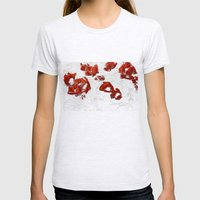 Poppy - Blowing In The W… Womens Fitted Tee Ash Grey SMALL