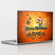 Christmas Crow Laptop & iPad Skin