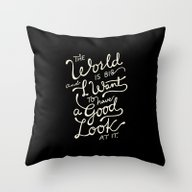 Throw Pillow featuring Big World 2 by Miss Holiday