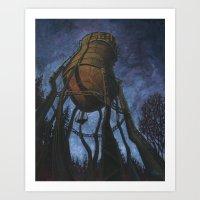 Prescott Water Tower Art Print