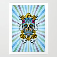 Sugar Skull- Day Of The … Art Print