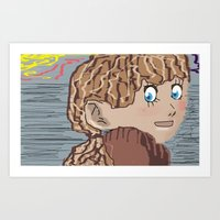 anime Art Prints featuring Anime by Peter N Nutley