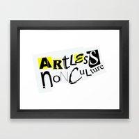 Artless Nonculture (Ransom) Framed Art Print
