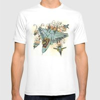 Tyrannosquadron Rex! Mens Fitted Tee White SMALL