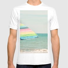 Sombrilla SMALL White Mens Fitted Tee