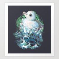 Moby Duck Art Print