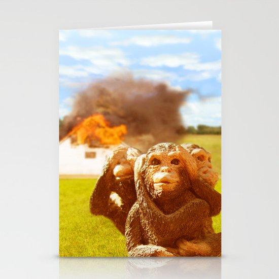 Monkeys Make Bad Pets. Stationery Card
