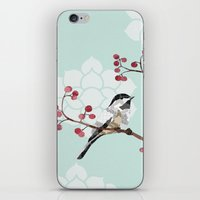 Chickadee iPhone & iPod Skin