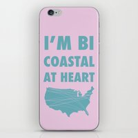 Bicoastal At Heart iPhone & iPod Skin