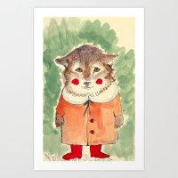 Clown Dog Art Print