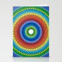 Happy Rainbow Mandala Stationery Cards