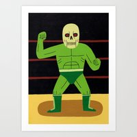 The Glowing Skull Art Print